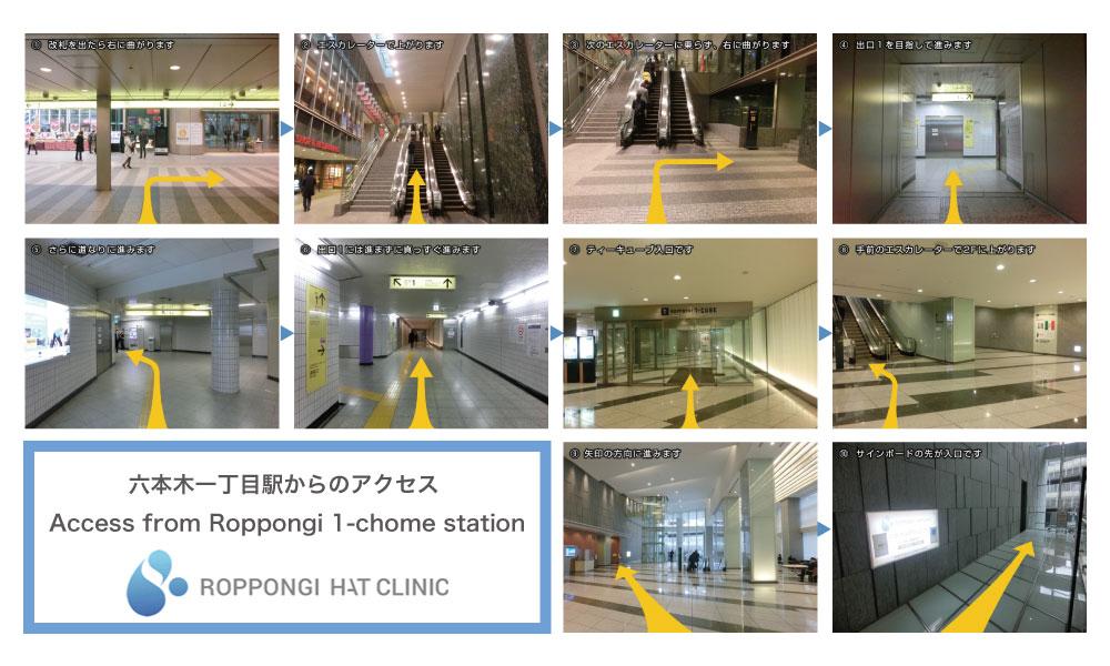 六本木一丁目駅からのアクセス(AccessfromRoppongi1-chomestation)